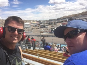 Sean attended 2018 TicketGuardian 500 - Monster Energy NASCAR Cup Series on Mar 11th 2018 via VetTix