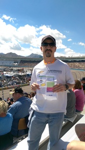 Tom attended 2018 TicketGuardian 500 - Monster Energy NASCAR Cup Series on Mar 11th 2018 via VetTix