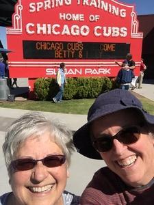 Shelley attended Chicago Cubs vs. Chicago White Sox - MLB Spring Training on Feb 27th 2018 via VetTix