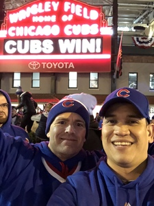 Gino attended Chicago Cubs vs. Pittsburgh Pirates - MLB on Apr 11th 2018 via VetTix
