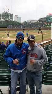 Nick attended Chicago Cubs vs. Atlanta Braves - MLB on Apr 13th 2018 via VetTix