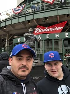 John attended Chicago Cubs vs. Atlanta Braves - MLB on Apr 13th 2018 via VetTix