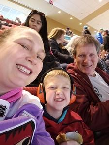 Calley attended Arizona Coyotes vs. St. Louis Blues - NHL on Mar 31st 2018 via VetTix