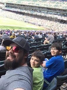 jonathan attended Colorado Rockies vs. San Diego Padres - MLB on Apr 11th 2018 via VetTix