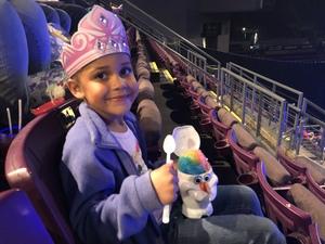 Jackie attended Disney on Ice Frozen - Sunday Evening on Mar 25th 2018 via VetTix