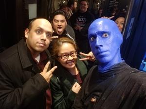 Ramon attended Blue Man Group on Apr 15th 2018 via VetTix
