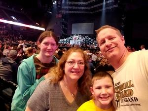 Tracy attended Brad Paisley - Weekend Warrior World Tour With Dustin Lynch, Chase Bryant and Lindsay Ell on Apr 7th 2018 via VetTix