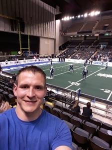 Shawn attended Baltimore Brigade vs. Washington Valor - AFL on Apr 13th 2018 via VetTix