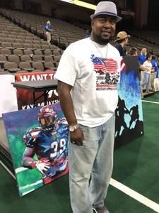 Lawrence attended Jacksonville Sharks vs. Maine Mammoths - AFL on May 19th 2018 via VetTix
