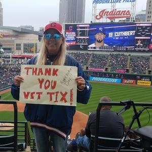 Kathy attended Cleveland Indians vs. Kansas City Royals - MLB on May 13th 2018 via VetTix