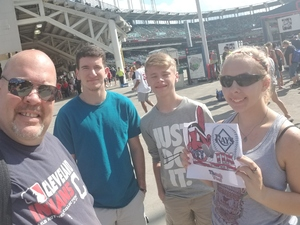 bryan attended Cleveland Indians vs. Tampa Bay Rays - MLB on Sep 2nd 2018 via VetTix