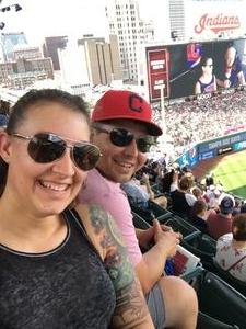 Joelle attended Cleveland Indians vs. Tampa Bay Rays - MLB on Sep 2nd 2018 via VetTix