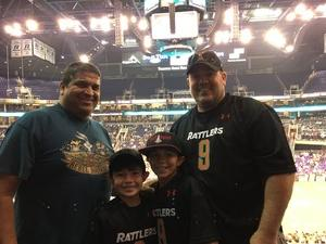 Mike attended Arizona Rattlers vs. Green Bay Blizzard - IFL on Apr 21st 2018 via VetTix