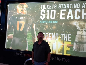 Rick attended Arizona Rattlers vs. Green Bay Blizzard - IFL on Apr 21st 2018 via VetTix