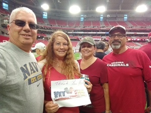 Click To Read More Feedback from ARIZONA CARDINALS NFL Game